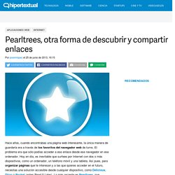Guardar, encontrar y compartir enlaces con Pearltrees
