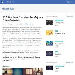 16 Sitios Para Encontrar las Mejores Fotos Gratuitas - Designmodo en Español