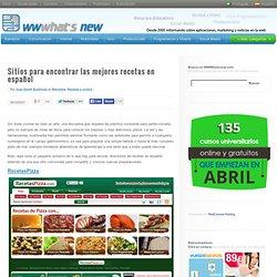 Sitios para encontrar las mejores recetas en español