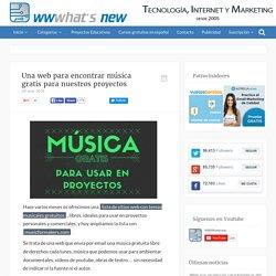 Una web para encontrar música gratis para nuestros proyectos