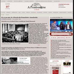 Il y a 50 ans, le «Procès de Francfort»-Auschwitz