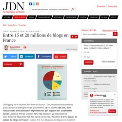 Entre 15 et 20 millions de blogs en France - Blogs en France