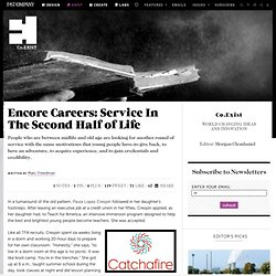 Encore Careers: Service In The Second Half of Life