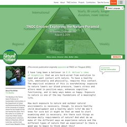 TNOC Encore: Exploring the Nature Pyramid - The Nature of Cities