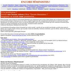 Encore féministes ! prostitution