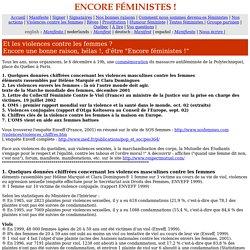 Encore féministes ! Violences
