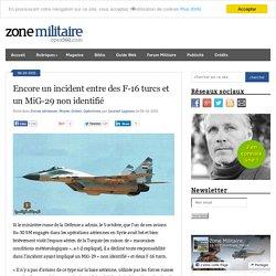 Encore un incident entre des F-16 turcs et un MiG-29 non identifié