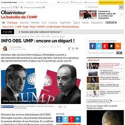 INFO OBS. UMP : encore un départ !
