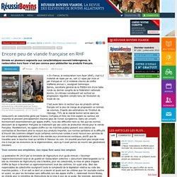 REUSSIR BOVINS 31/03/15 Encore peu de viande française en RHF