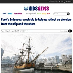 Encounter 2020 commemorating Cook's arrival to Australia on Endeavour