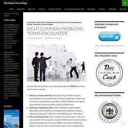 Eight Common Problems Teams Encounter