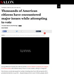 Thousands of American citizens have encountered major issues while attempting to vote