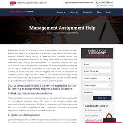 management assignment help services