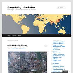 Encountering Urbanization