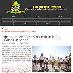 Tips to Encourage Your Child to Make Friends in School