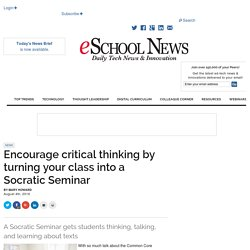 Encourage critical thinking by turning your class into a Socratic Seminar