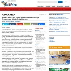Nigeria: Ernst and Young Urges Govt to Encourage Entrepreneurship to Grow Economy