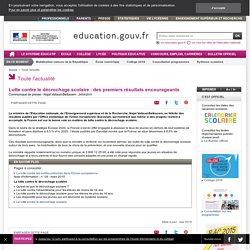 Lutte contre le décrochage scolaire : des premiers résultats encourageants