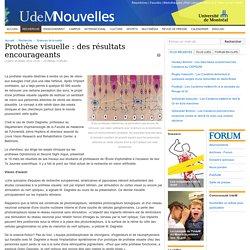 Prothèse visuelle : des résultats encourageants