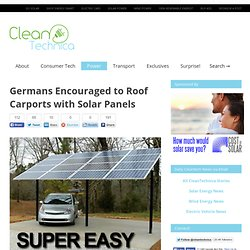 Germans Encouraged to Roof Carports with Solar Panels
