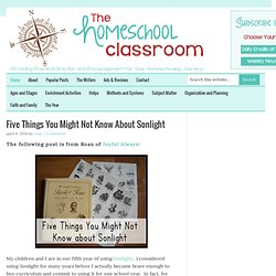 The Homeschool Classroom — …located just about anywhere we happen to be