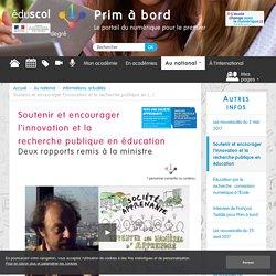 Soutenir et encourager l'innovation et la recherche publique en éducation - Prim à bord