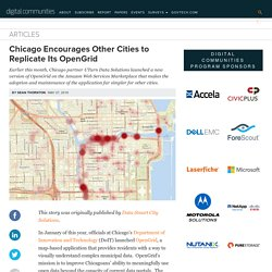 Chicago Encourages Other Cities to Replicate Its OpenGrid