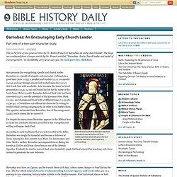 Barnabas: An Encouraging Early Church Leader