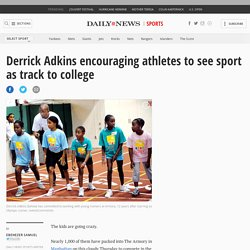Adkins encouraging athletes on track to college