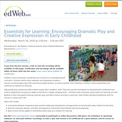 Encouraging Dramatic Play and Creative Expression in Early Childhood