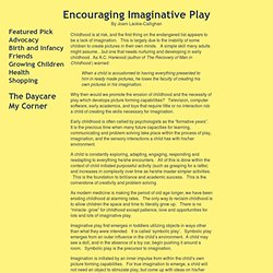 Encouraging Imaginative Play