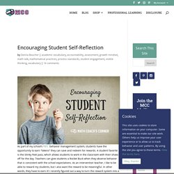 Encouraging Student Self-Reflection