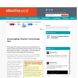 Encouraging Teacher Technology Use