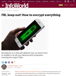 How to encrypt everything on Windows, OS X, iOS, and Android