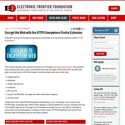 Encrypt the Web with the HTTPS Everywhere Firefox Extension