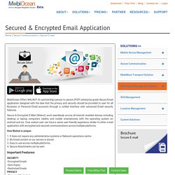 Secured & Encrypted Email Application from MobiOcean