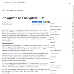 An Update on Encrypted UIDs