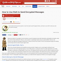 The Math Dude : How to Use Math to Send Encrypted Messages