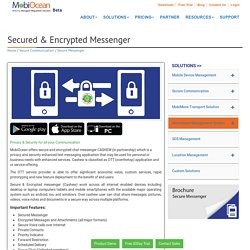 Encrypted Messenger for Android, IOS, Windows, Secure Messenger - MobiOcean