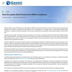 Data Encryption Best Practices for HIPAA Compliance