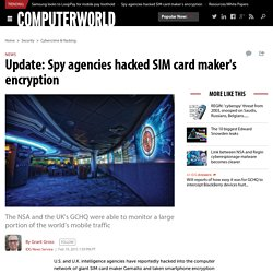 Update: Spy agencies hacked SIM card maker's encryption