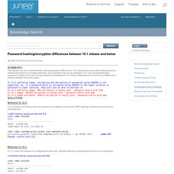 Juniper Networks - Password hashing/encryption differences between 15.1 release and below