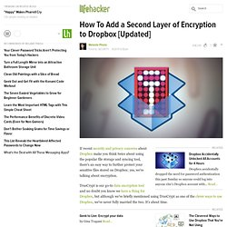 How To Add a Second Layer of Encryption to Dropbox