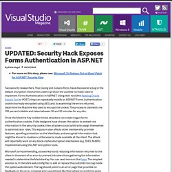 AES Encryption Flaw Exposes ASP.NET Sites
