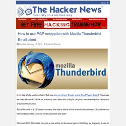 How to use PGP encryption with Thunderbird