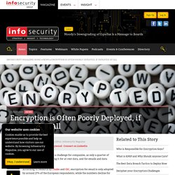 Encryption is Often Poorly Deployed, if Deployed at All - Infosecurity Magazine
