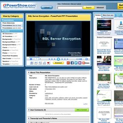 SQL Server Encryption PowerPoint presentation