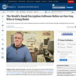 The World's Email Encryption Software Relies on One Guy, Who is Going Broke