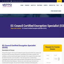 EC-Council Certified Encryption Specialist (ECES) - Hippo Cyber Institute