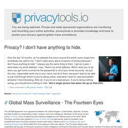 privacy tools - encryption against global mass surveillance □